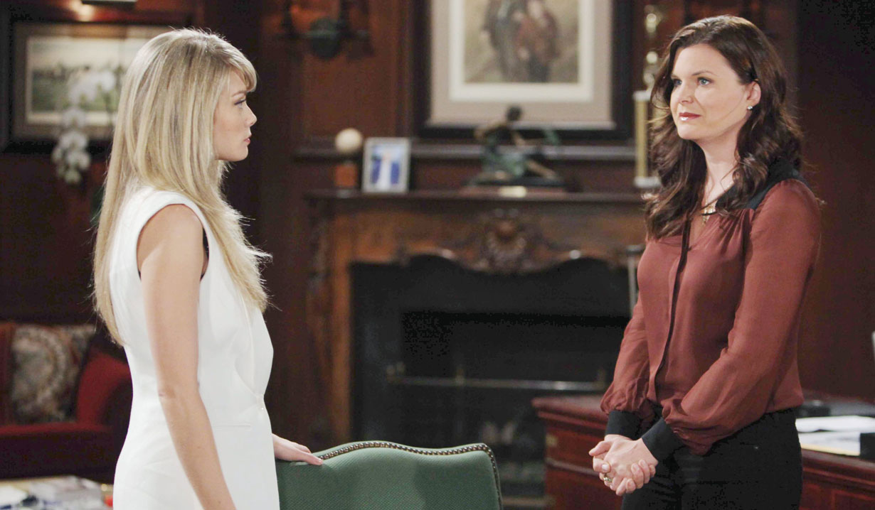 katie and hope talk ridge trying to stop bill and brooke's wedding bold and beautiful