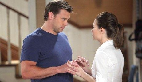 Billy Miller as Jake Doe with Rebecca Herbst as Elizabeth Webber on General Hospital
