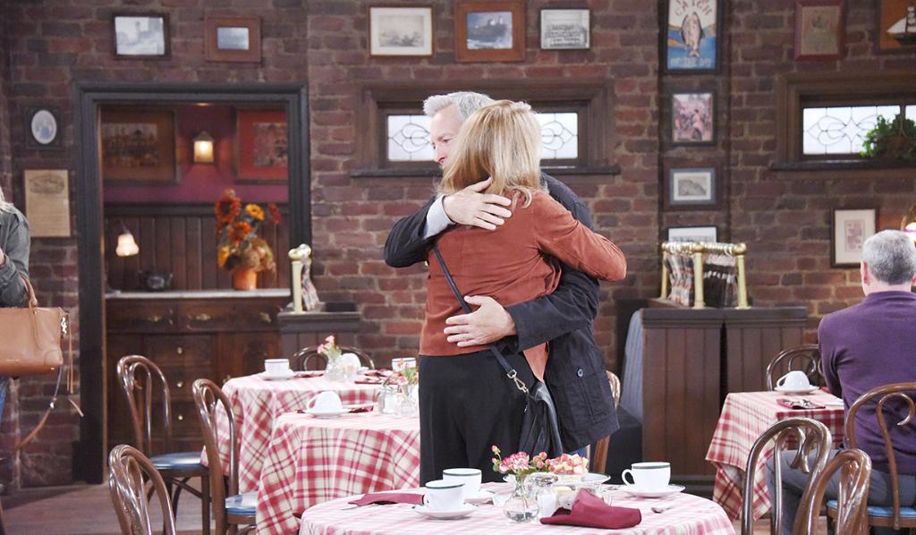 Marlena and John hug