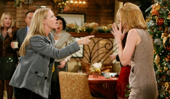 """Sharon Case, Michelle Stafford """"The Young and the Restless"""" Set  CBS television City Los Angeles 10/28/10 ©Howard Wise/jpistudios.com 310-657-9661 Episode # 9544 U.S. Airdate 12/10/10"""