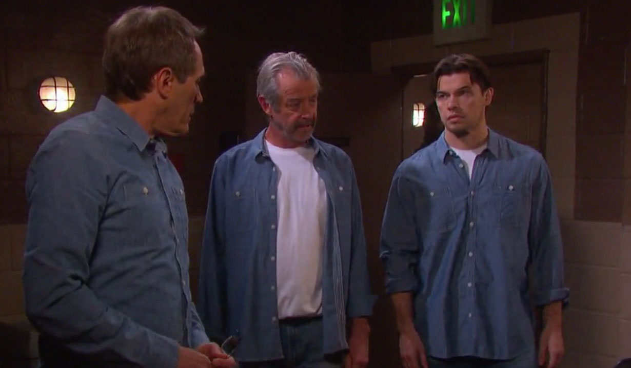 Clyde Weston meets Orpheus and Xander in Prison on Days of our Lives