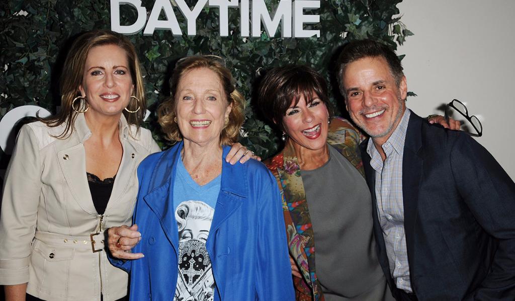 Martha Byrne, Elizabeth Hubbard, Y&R's Christian LeBlanc and Colleen Zenk, ATWT Alum