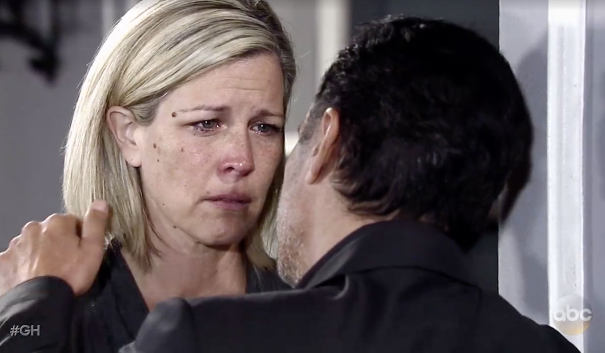 carly blames sonny for morgan's death gh