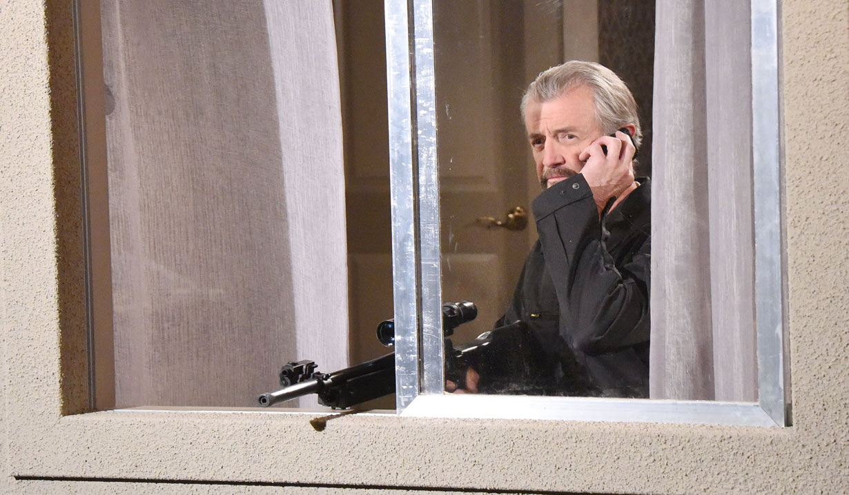 Clyde Weston takes aim at Abe Carver on Days of our Lives