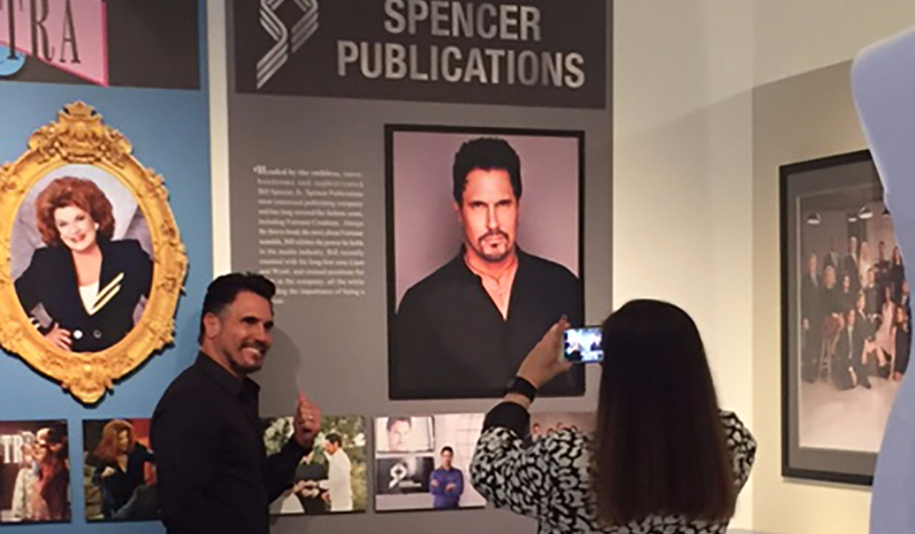 Don Diamont shows his own Spencer billboard