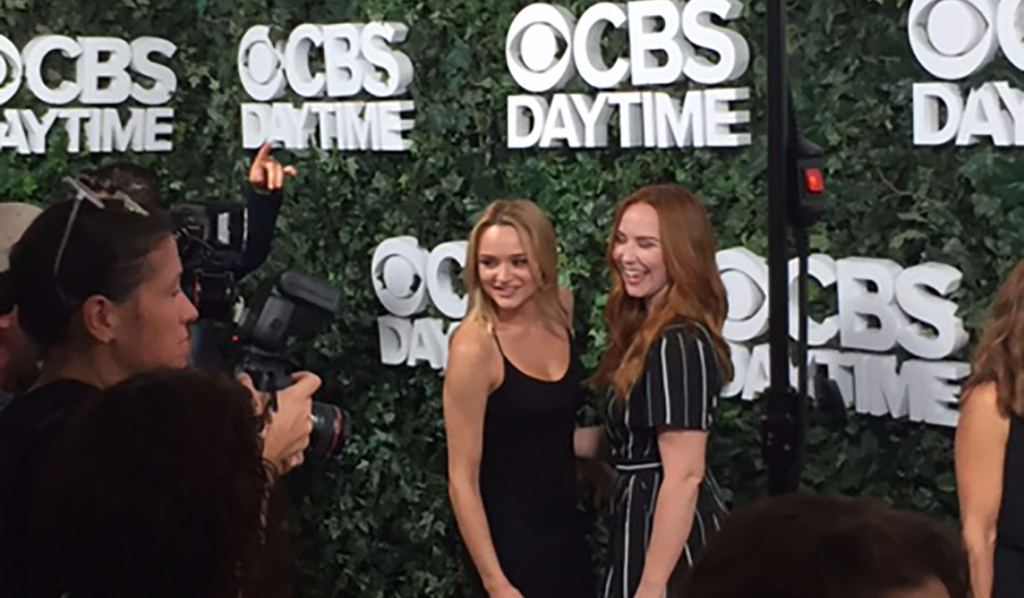 Hunter King and Camryn Grimes