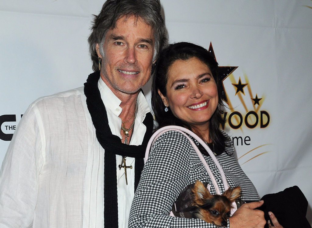 Ronn Moss and wife, Devin Devasquez at Hollywood Walk of Fame Honors event