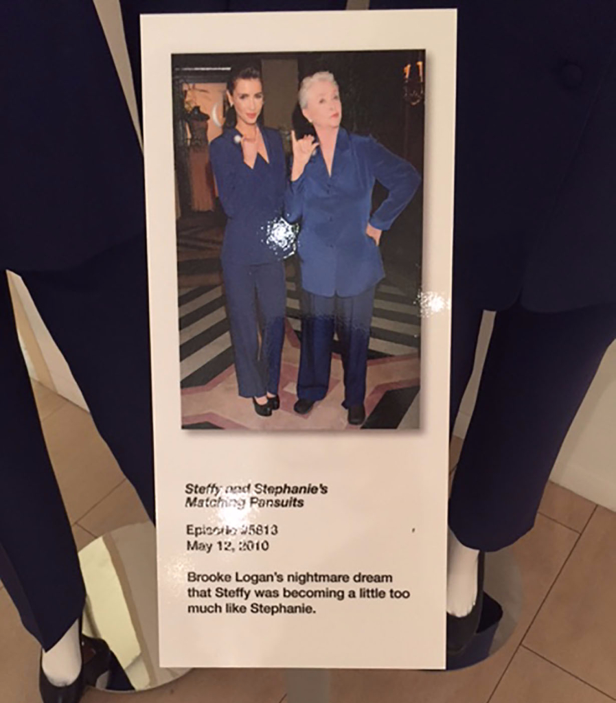 Steffy and Stephanie's matching pantsuits on Bold and Beautiful