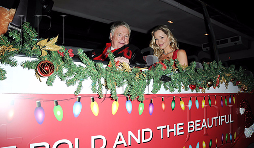 Dick Christie and Jennifer Gareis at the 85th Hollywood Christmas Parade