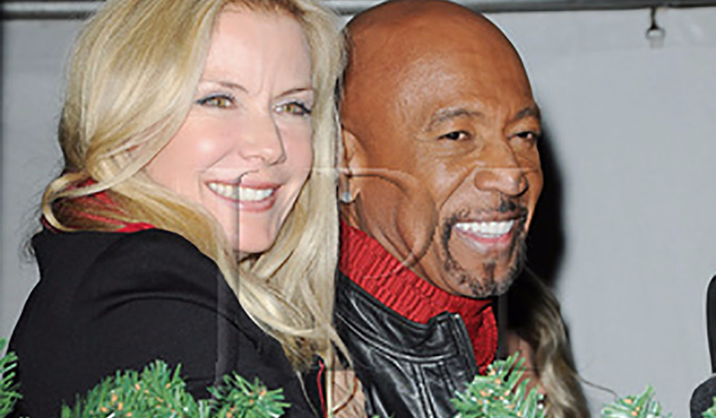 Katherine Kelly Lang and Montel Williams at the 85th Hollywood Christmas Parade