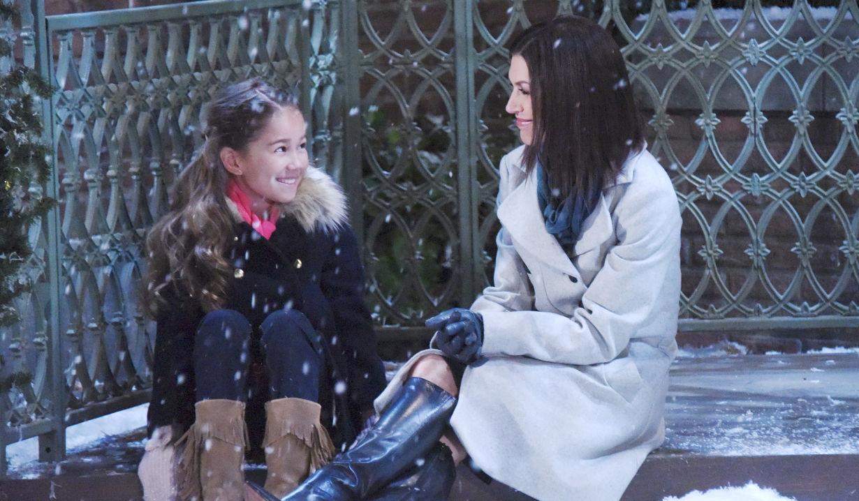 Emma and Anna at Christmas