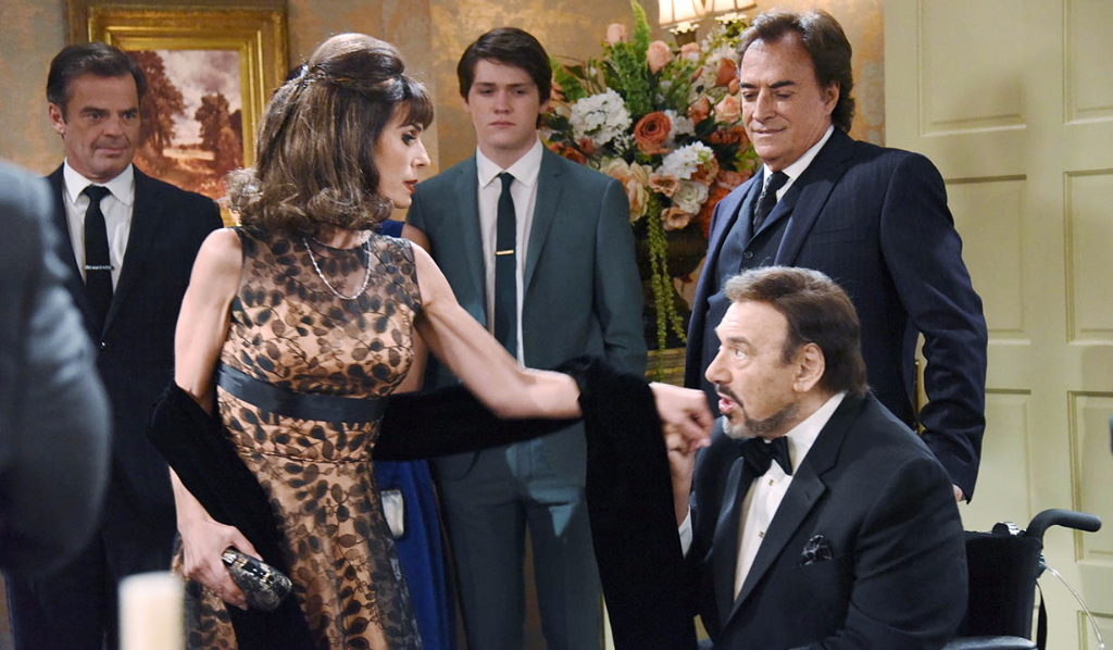 Stefano kisses Hope's hand
