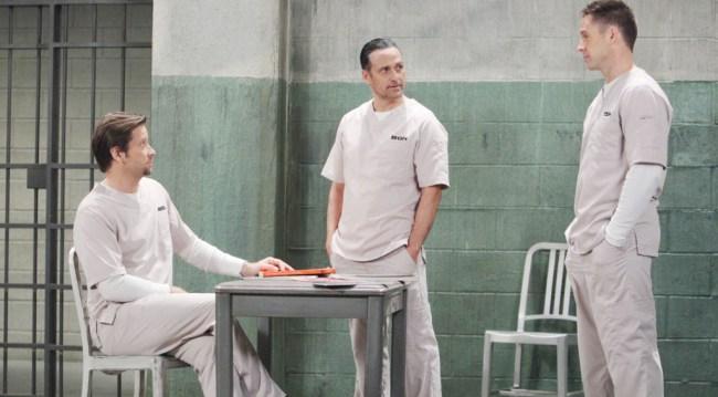 Franco in Pentonville with Sonny Corinthos (Maurice Benard) and Julian Jerome (William deVry) (Howard Wise/JPI)
