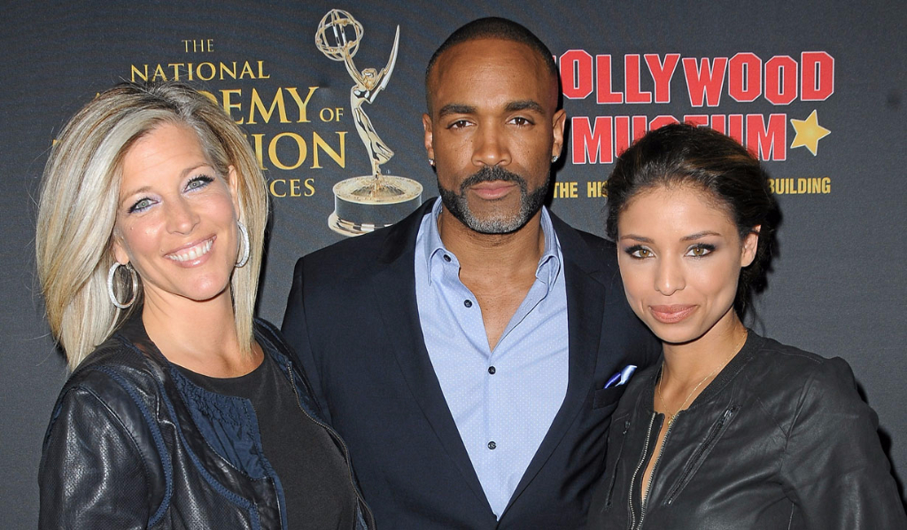 Laura Wright, Donnell Turner and Brytni Sarpy, GH's Carly, Curtis, Valerie
