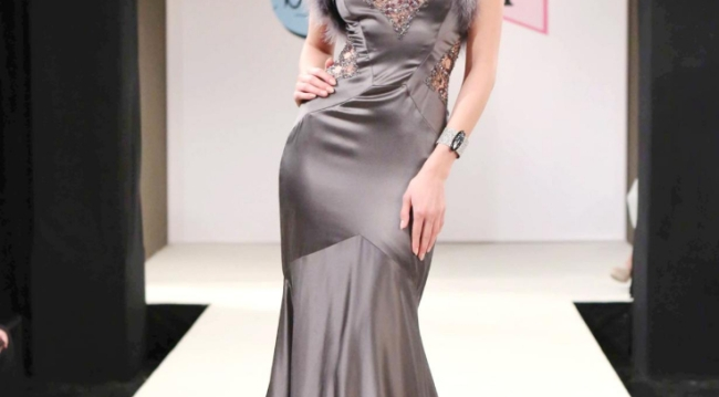 Spectra Fashion Show pewter gown