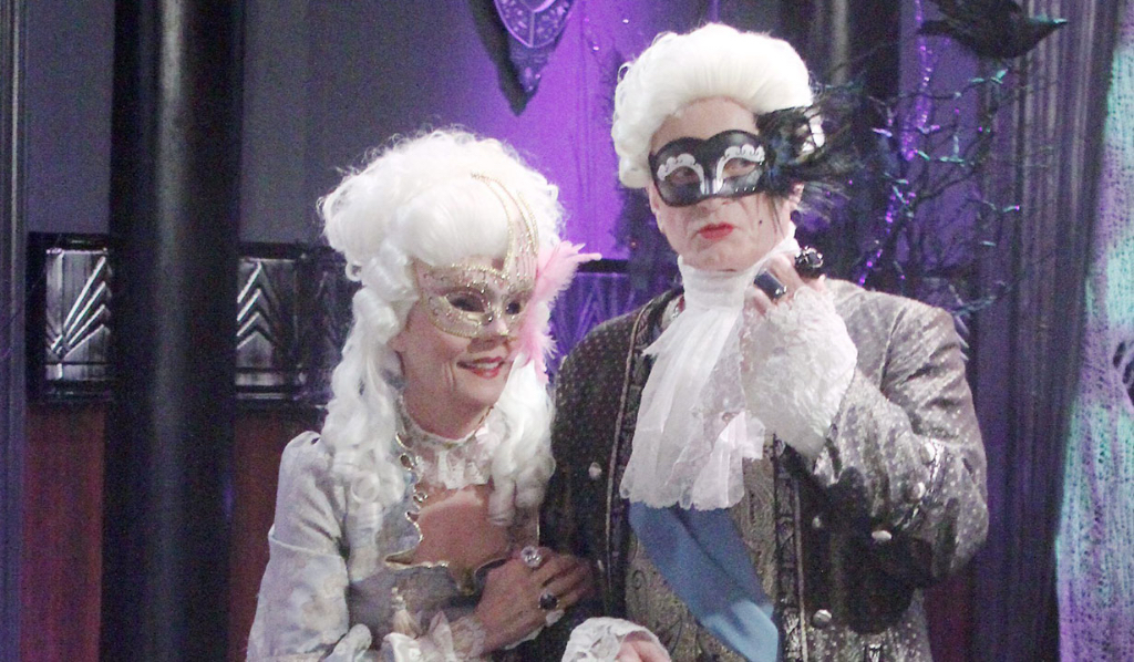 Luke and Tracy dressed for Halloween General Hospital