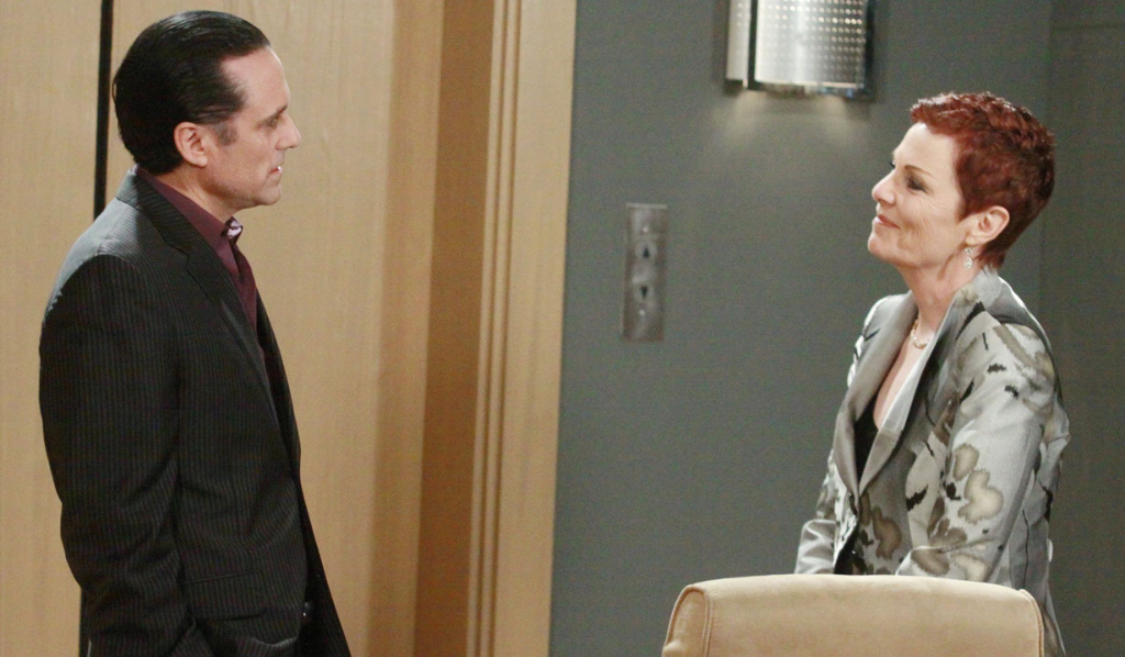 Tracy faces off with Sonny Corinthos General Hospital