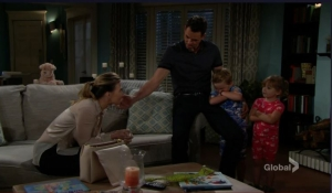 Billy introduces Phyllis to the kids-YR-CBS