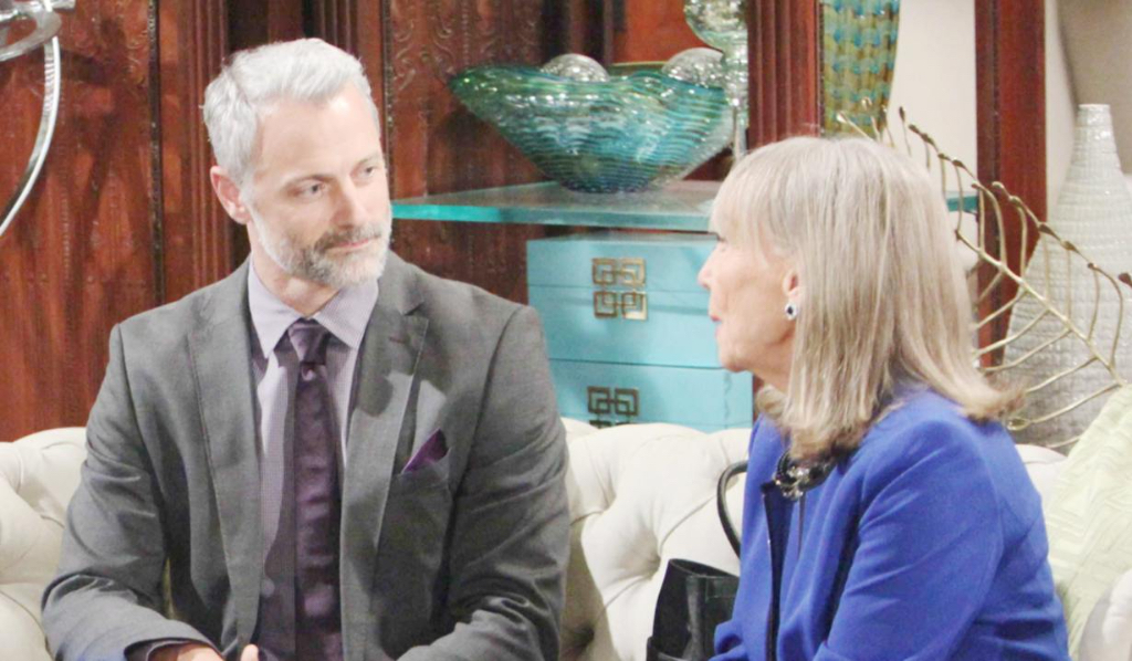 "Max Shippee (Graham Bloodworth ""The Young and the Restless"") and Marla Adams (Dina Mergeron), Howard Wise/JPI"
