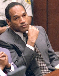 O.J. Simpson At His Criminal Trial