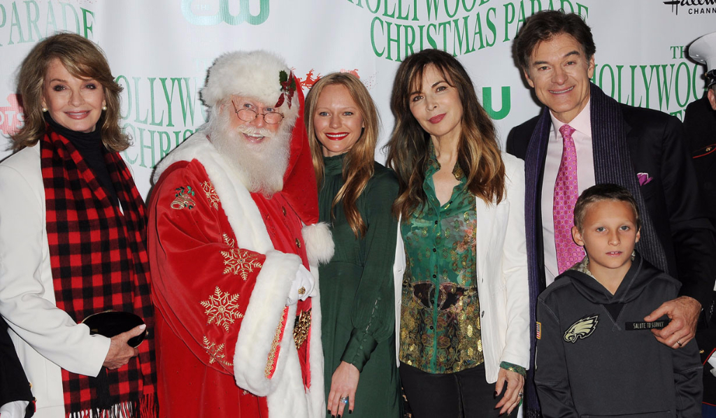 Santa and Dr. Oz with Days actresses