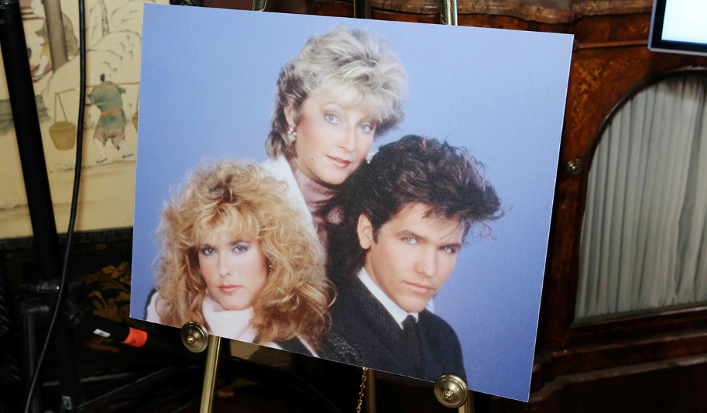 Big 80s hair - Tracey Bregman's party celebrating 35 years on Y&R!