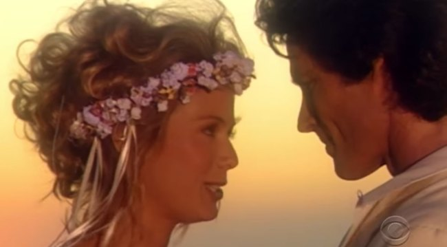 Brooke and Ridge's 1994 beach wedding bold and beautiful