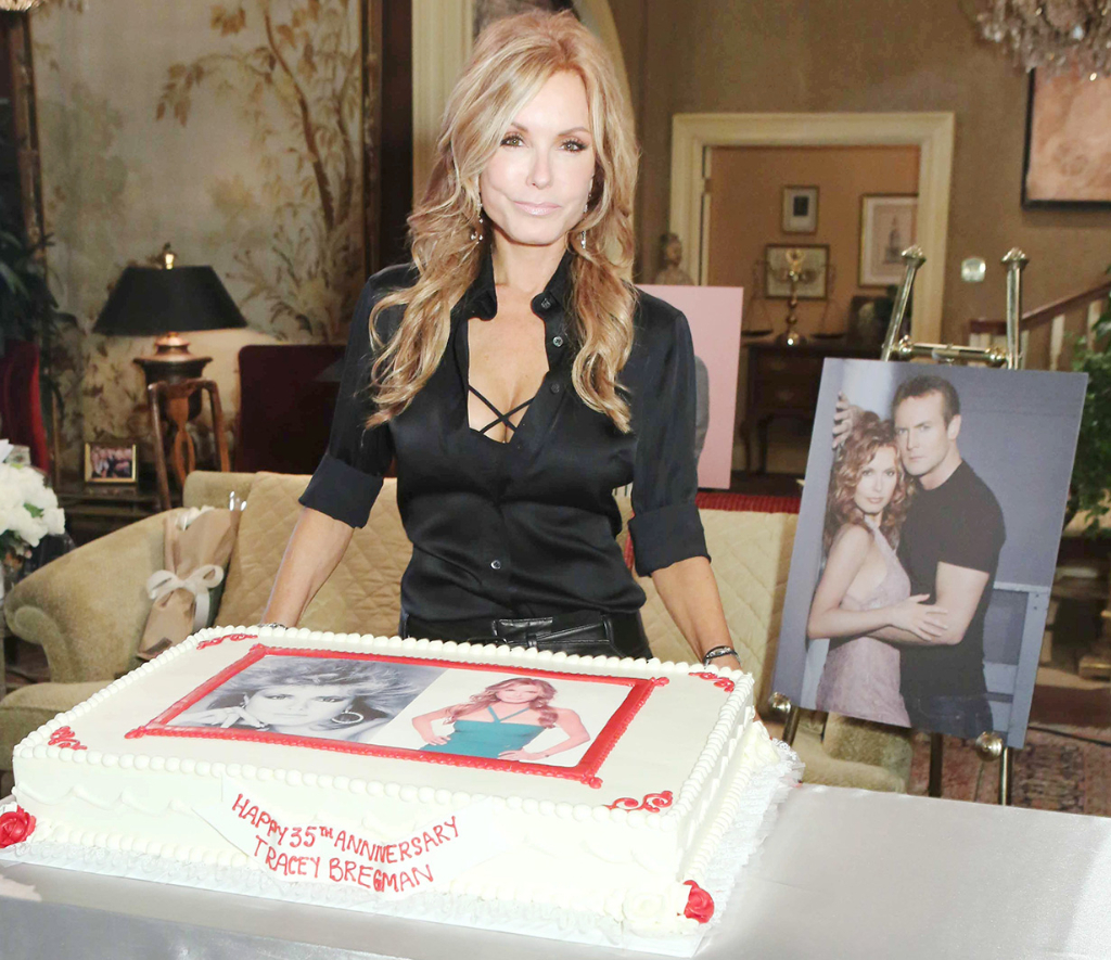 Tracey Bregman's cake, celebrating 35 years on Y&R.