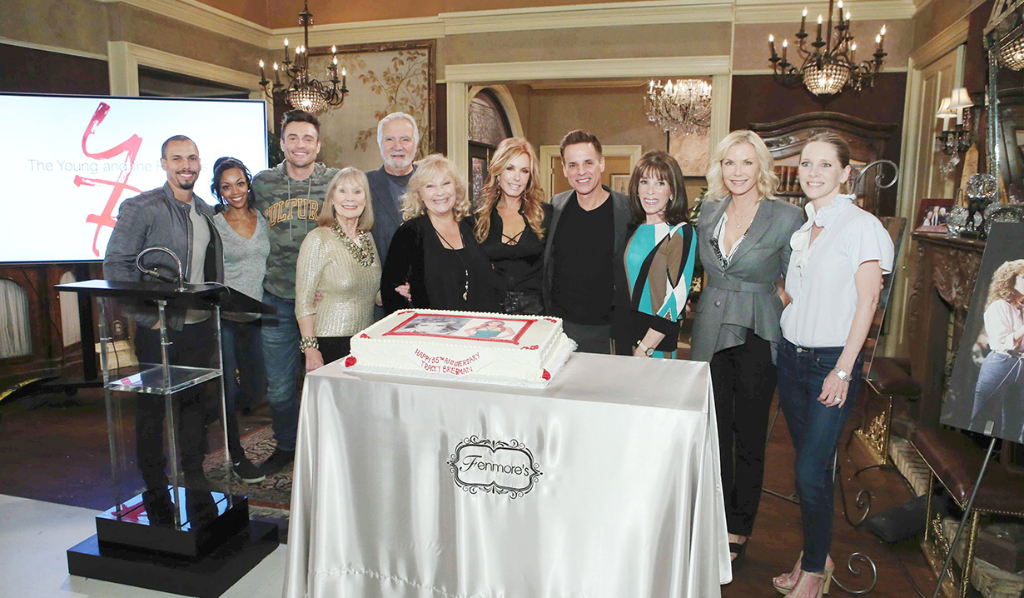 Y&R cast at Tracey Bregman's 35th anniversary with the show.
