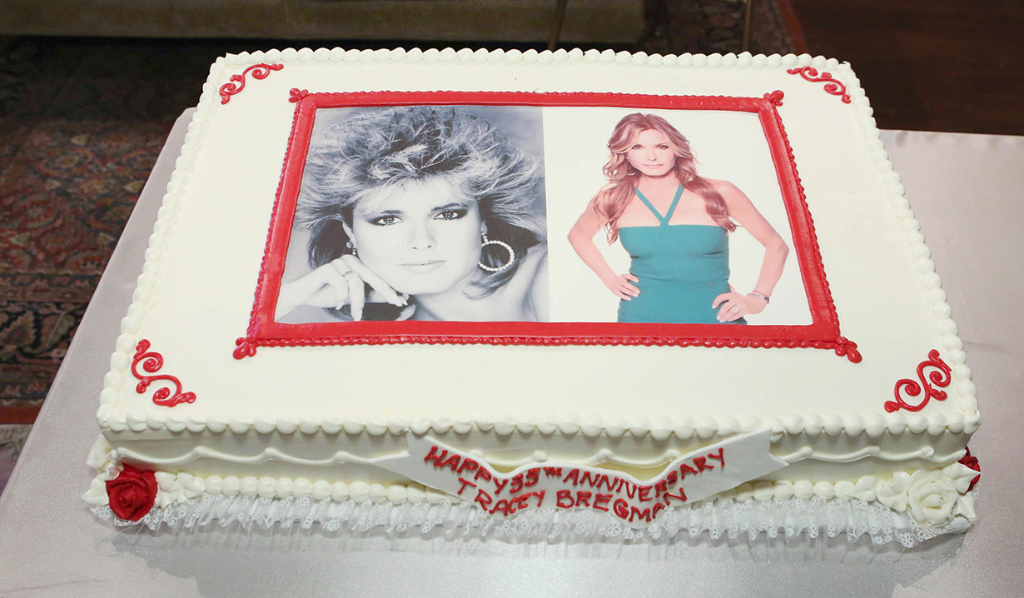 Y&R cake depicts Tracey Bregman as Lauren Fenmore on Y&R - 35 years!