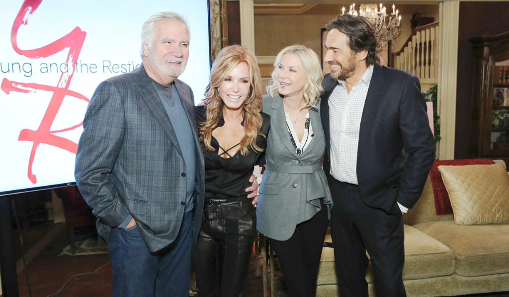 John McCook, Katherine Kelly Lang, Thorsten Kaye celebrate Tracey Bregman's 35th anniversary with Y&R.
