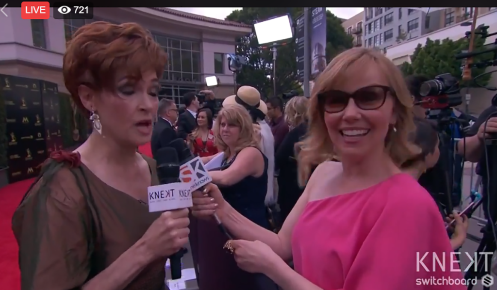SheKnows Soaps reporter Kristyn Burtt with GH's Carolyn Hennesy