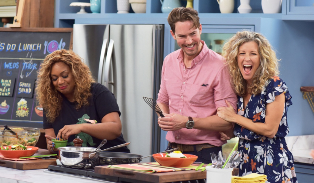 The Kitchen Show | Laura Wright And Wes Ramsey Cook On Food Network S The Kitchen