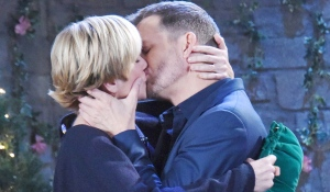 brady and eve kissing