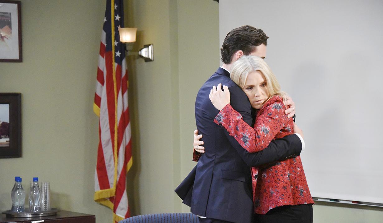 jen hugs chad at spd