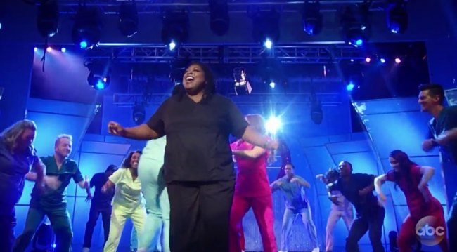 Epiphany Johnson at the 2018 Nurses Ball GH