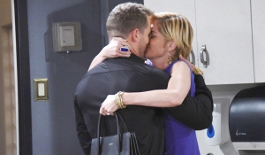 brady and eve kissing at hospital