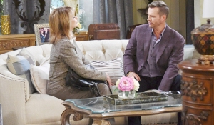 brady being counseled by Marlena about loving theresa and eve