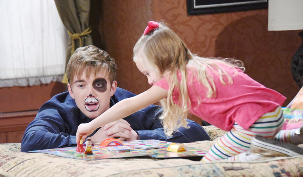 Will and Ari face paint