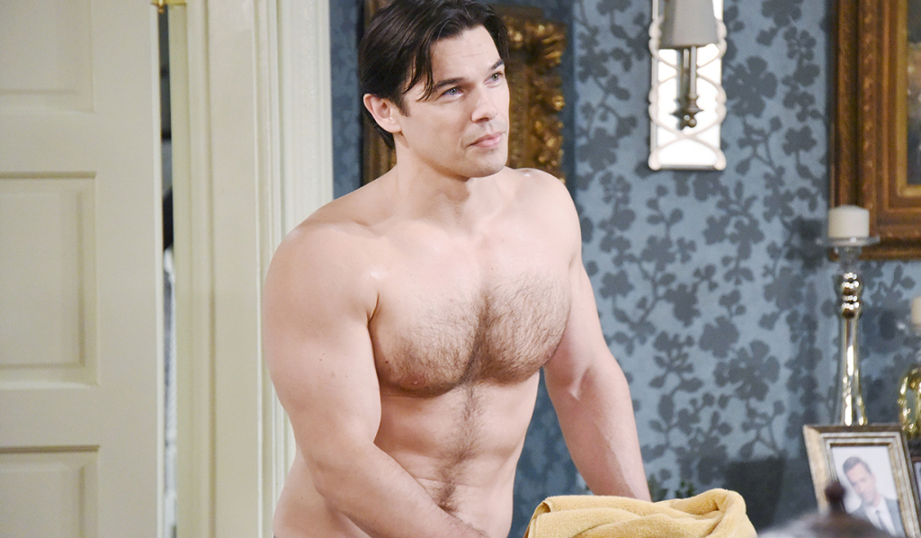 Xander shirtless