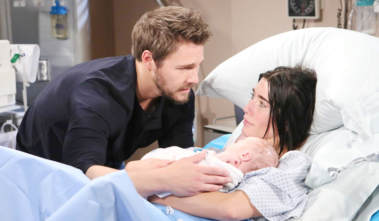 Liam, Steffy, Kelly birth B&B