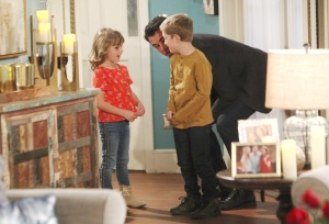 Billy talking with Johnny and Katie on The Young and the Restless
