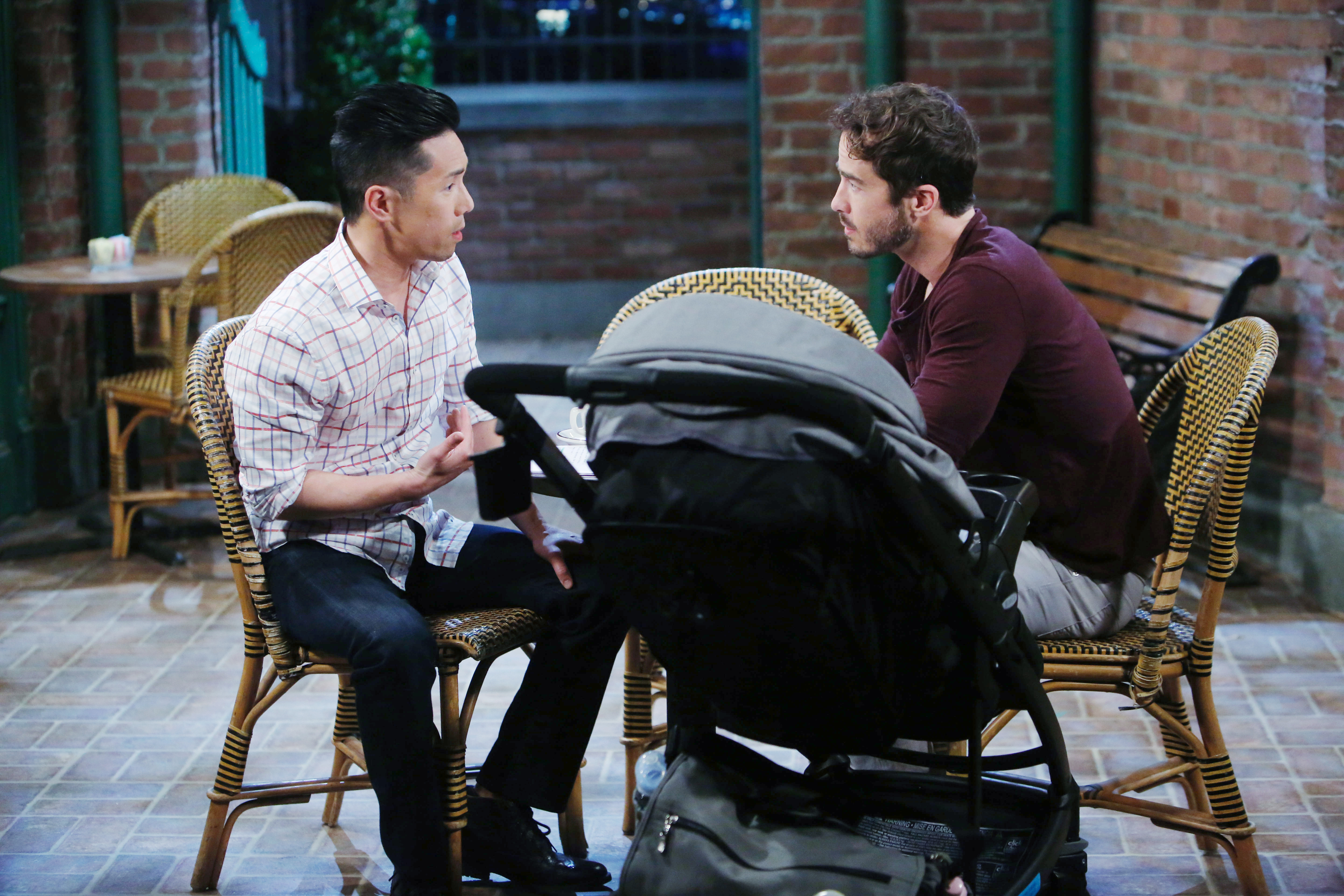 Brad, Lucas and Wiley at Kelly's on General Hospital