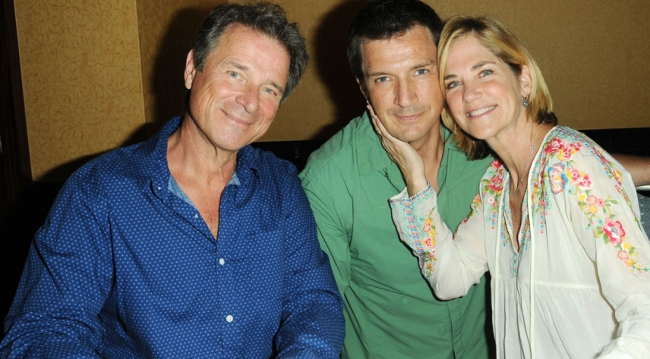 OLTL's James (Max) and Kassie (Blair) DePaiva, Nathan Fillion (Joey)