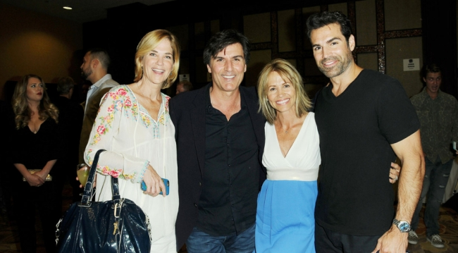 OLTL's Kassie DePaiva (Blair), Krista Tesreau (Tina), AMC's Vincent Irizarry (David), Jordi Vilasuso (Griffin)