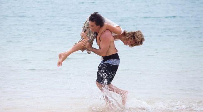 Jarlena in Hawaii honeymooning in 1999