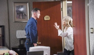 jen tells Brady about jj being set up