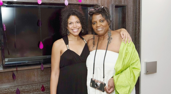 Karla Mosley and Anna Marie Horsford at Karla's baby shower