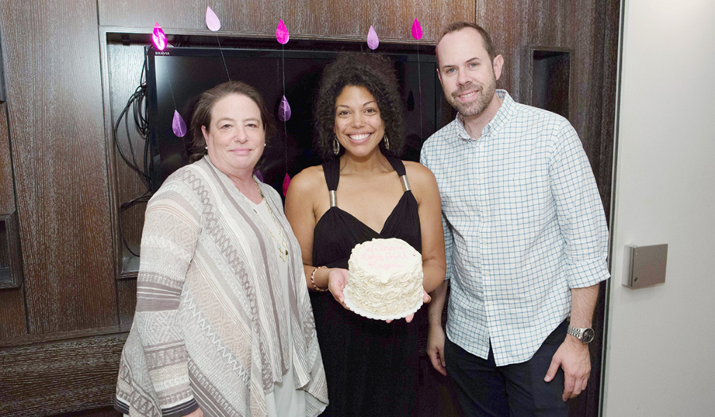 Karla with Casey Kasprzyk (Supervising Producer) at Karla's baby shower