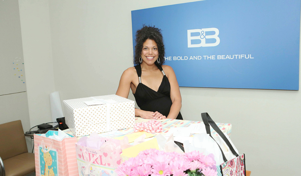 Karla at her baby shower